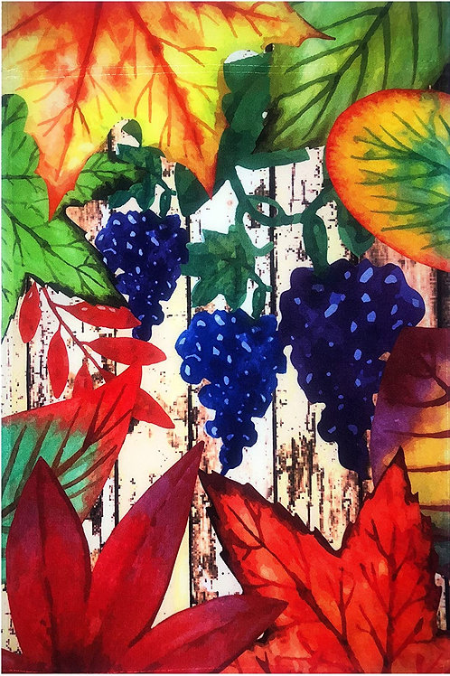 Grapes and Fall Leaves