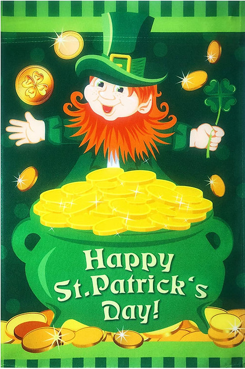 Happy St. Patrick's Day Leprechaun Shamrock Gold