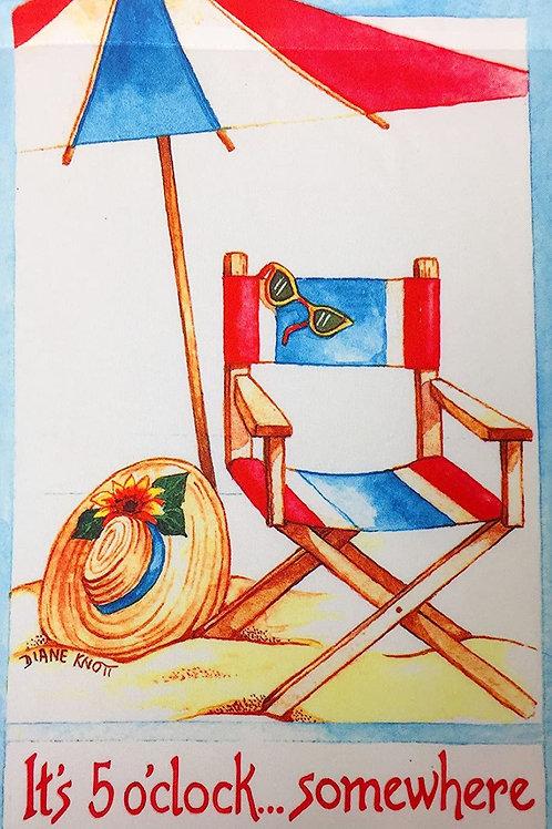 "Relax on Beach Garden Flag 12""X18"" Summer Beach Decorative Flag Designer Small S"