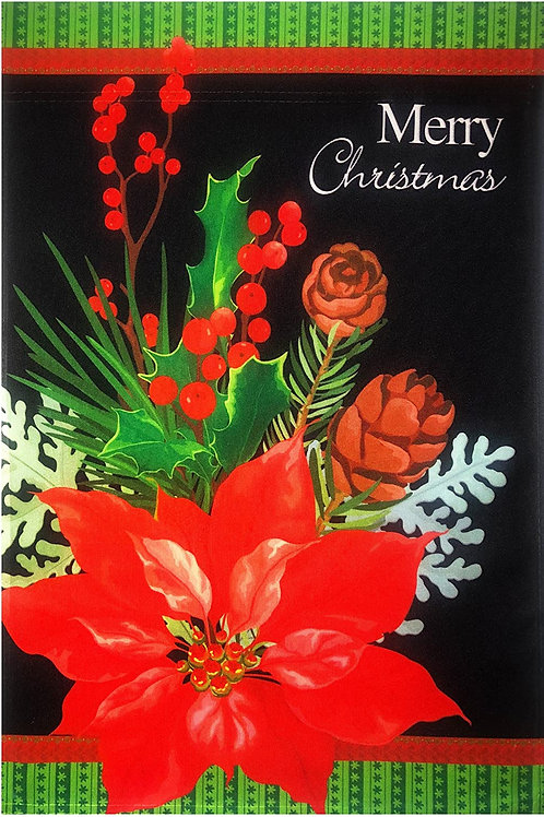 "51groups Merry Christmas Poinsettia Garden Flag 12""X18"" Christmas Decorative Fla"
