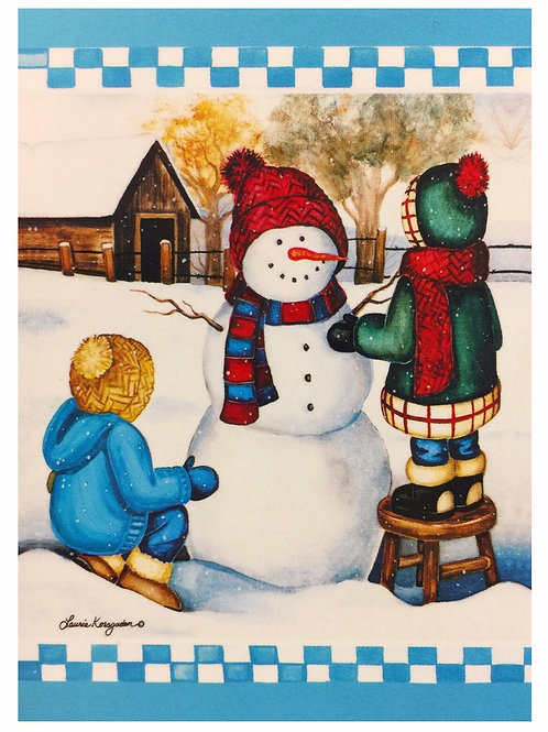 Snowman with Kids 28*40