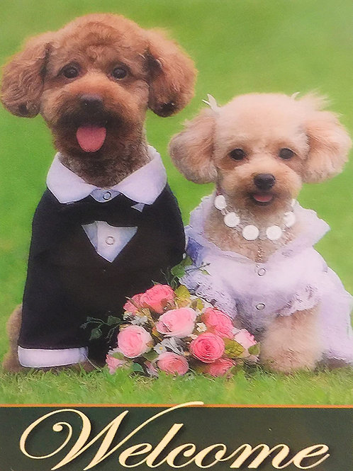 Dog Couple with Roses