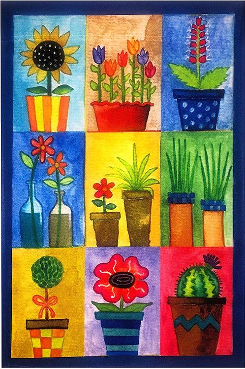 "51groups Flower Pots Garden Flag 12""X18"" Spring Summer Flowers Decorative Flag S"