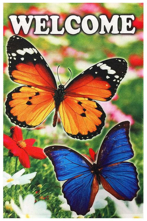 Blue Butterfly & Orange Butterfly Welcome