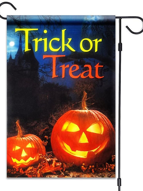 "51groups Trick or Treat Jack-O-Lantern Garden Flag 12""X18"" Halloween Decorative"