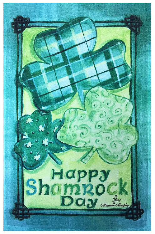 St.Patrick's Decorative Flag Clovers Irish Green Flag Small Size Banner