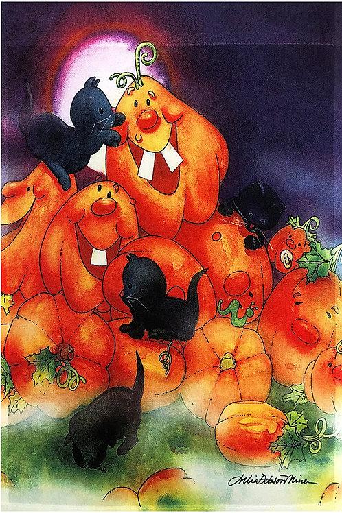 Halloween Happy Pumpkins & Black Cats