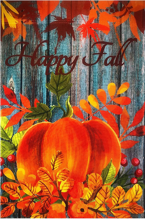 "51groups Happy Fall Pumpkin Garden Flag 12""X18"" Fall Pumpkin & Leaves Decor"