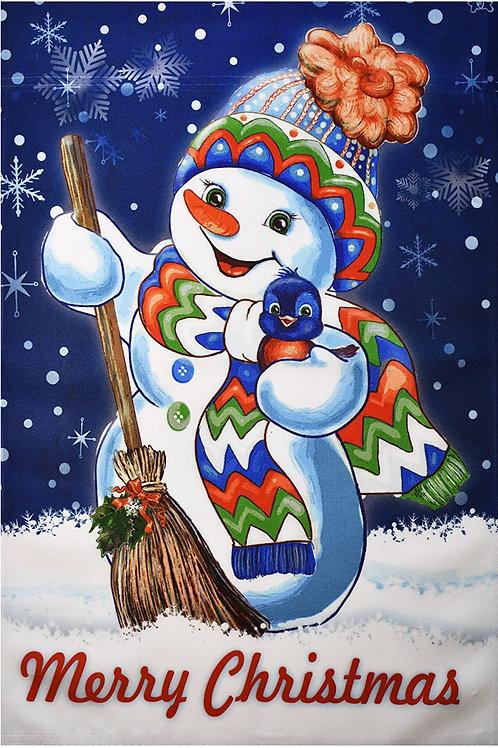 "51groups Garden Flag 12""X18"" Merry Christmas Decorative Flag 100% All Weather Po"
