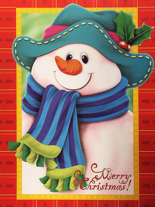 "Snowman Decorative Garden Flag 12""X18"" Winter & Christmas Designer Flag Weatherp"