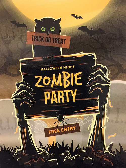 Halloween Glow-in-Dark Zombie Party