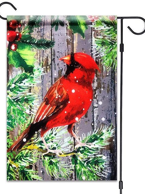 "51groups Winter Red Cardinal Flag 12""X18"" Winter and Christmas Bird Decorative F"