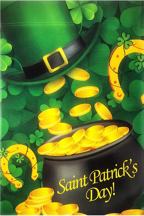 Happy St. Patrick's Day Shamrock Hat Gold