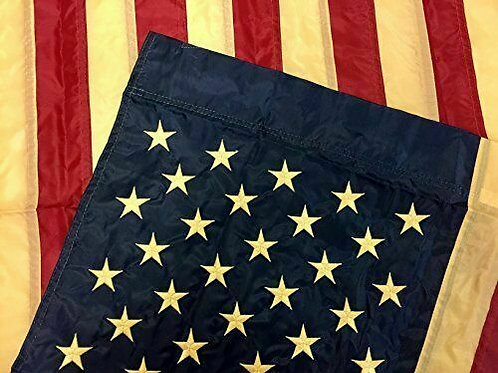 "Embroidered American Flag 28"" X 50"" House Flag 