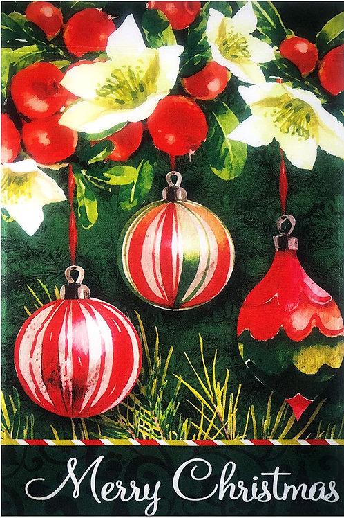 "51groups Christmas Ball Ornaments Garden Flag 12""X18"" Merry Christmas Sign Chris"