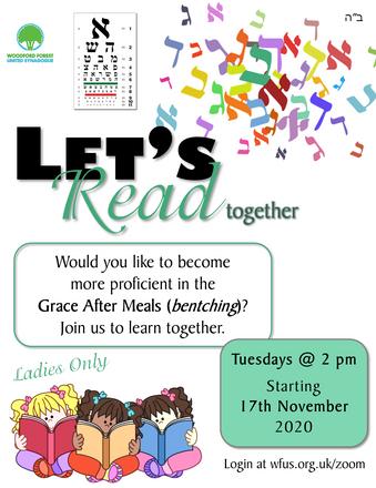 Let's Read (Grace After Meals) Together