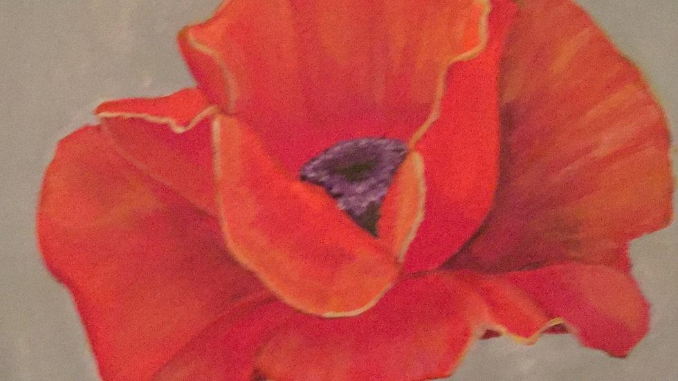 "Original canvas art ""Red Poppy"""