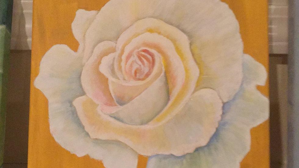 "Original canvas art ""White Rose"""