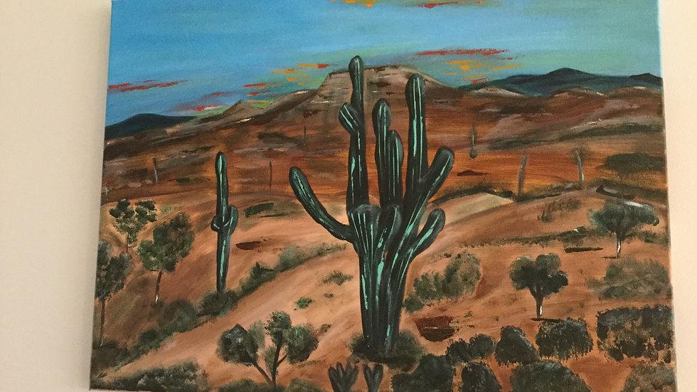 "Original Canvas art ""Arizona Desert"""