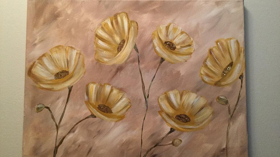 """Original canvas art """"Flower dance"""""""
