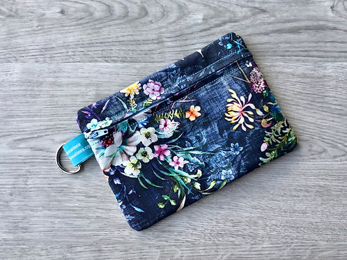 Medium Carry-All Pouch -  Blue Floral