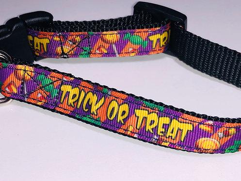 Trick or Treat Dog Collar