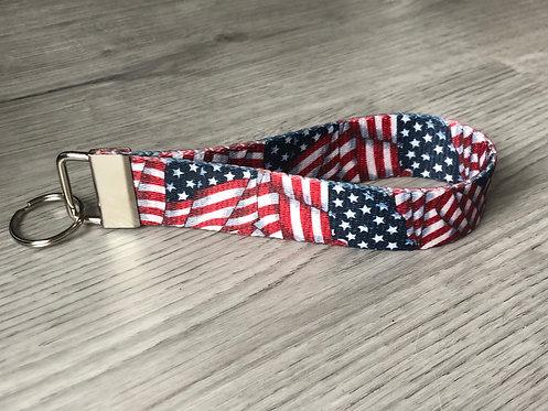 American Flag Key Fob Style #2