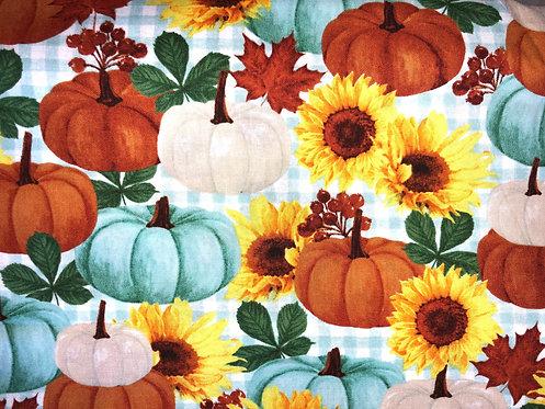Fall Aqua Pumpkins & Sunflowers