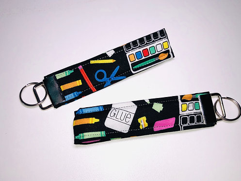 School Supplies Key Fob | School Supplies Wristlet | School Supplies Key Chain