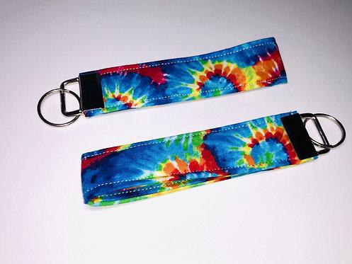 Tie Dye Key Fob   Tie Dye Wristlet   Tie Dye Key Chain