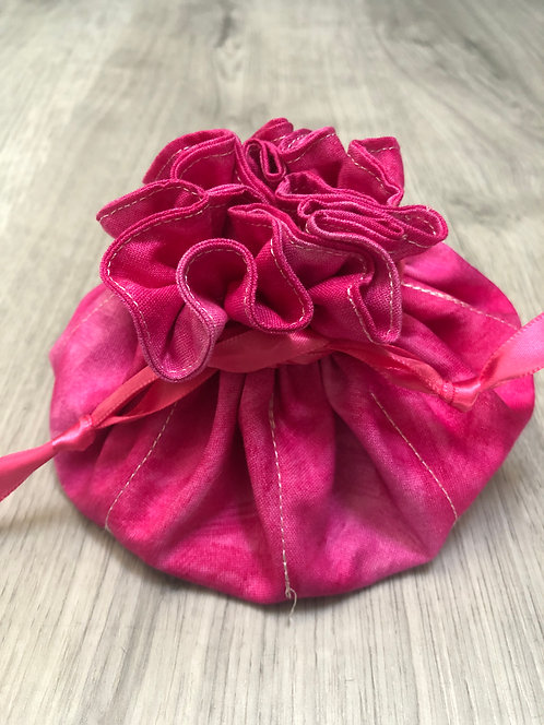 Hot Pink Jewelry Pouch
