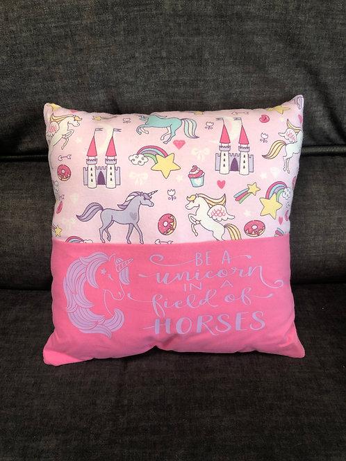Unicorns- Pink w/Purple Print