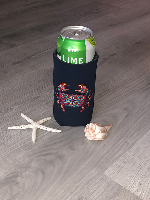 Flower Crab Coozie - Tall Boy