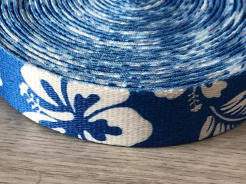 Blue Hibiscus Leash / Pet Lead