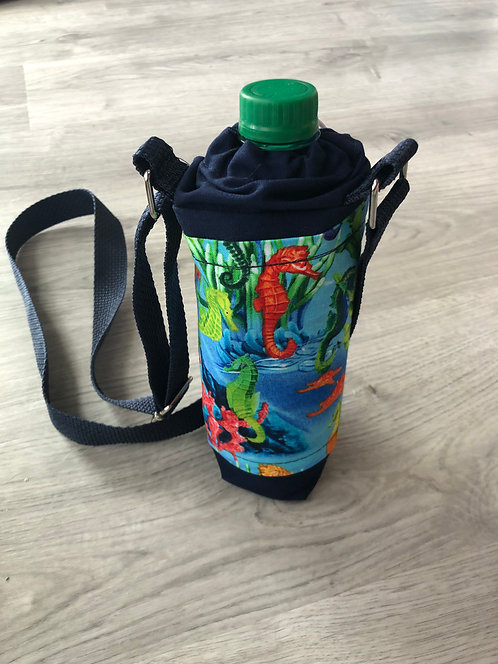 Sea Horses Insulated Bottle Holder with Adjustable Shoulder Strap
