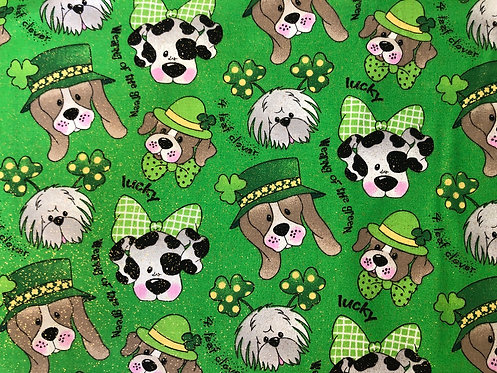 St. Patrick's Day Puppies on Green