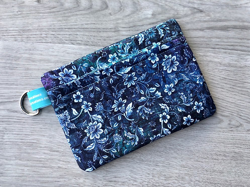 Medium Carry-All Pouch - All Blue Floral