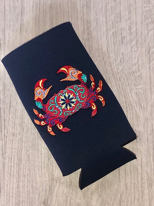 Flower Crab Can Coozie