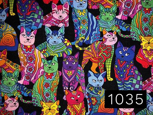 Rainbow Patchwork Cats
