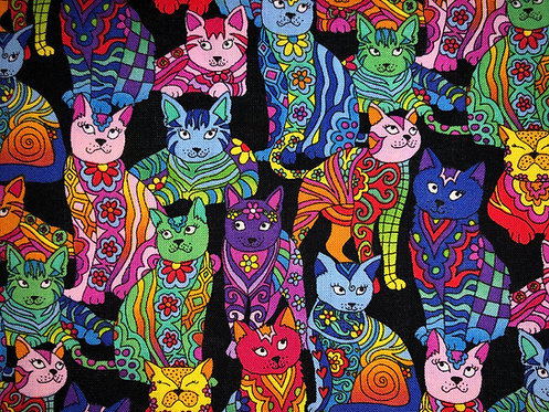Patchwork Rainbow Cats
