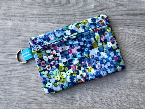 Medium Carry-All Pouch - Blue Abstract