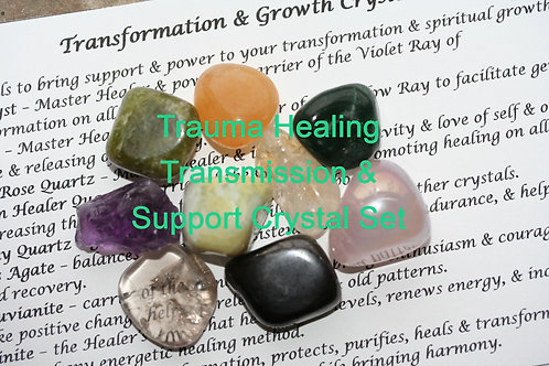 Trauma Healing Transmission Audio & Support Crystal Set