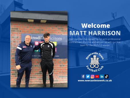 Matt Harrison Signs Up