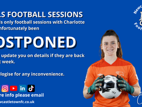 Girls Football Sessions Off