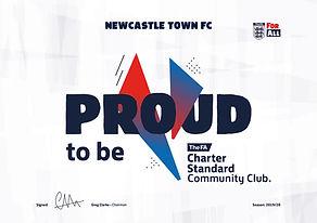 FA Charter Standard community football club newcastle town fc