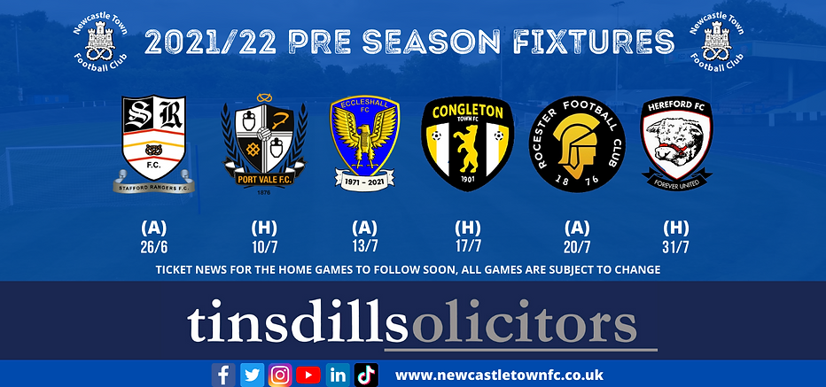 TICKET NEWS FOR THE HOME GAMES TO FOLLOW