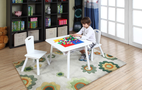 4 In 1 Flip Top Multi-Function Table And Chair Set-White
