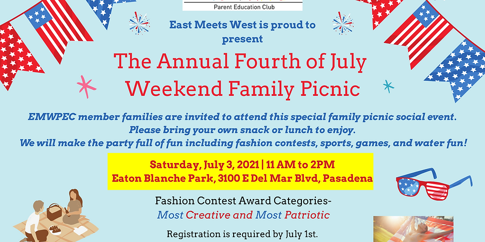 July 3rd  Family Picnic & Social Party
