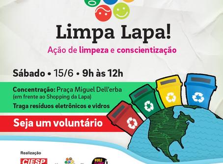 Koleta Ambiental patrocina mutirão de limpeza no bairro da Lapa