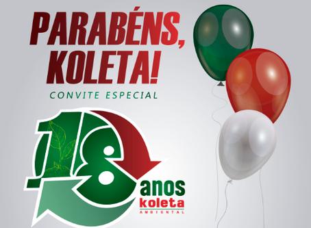 Koleta completa 18 anos com serviços de excelência e cuidados com o meio ambiente